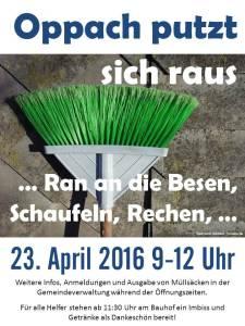 Plakat Frühjahrsputz